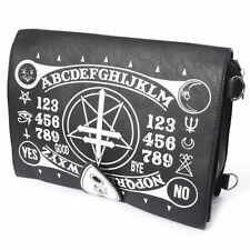 Poizen Industries Gothic Goth Occult Ouija Satchel Bag Black witch