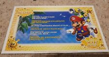 Super Mario Sunshine - Nintendo GameCube - VIP Points Card Leaflet - 24:7