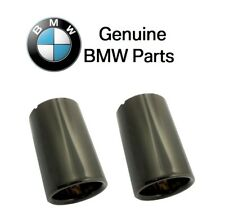 NEW For F30 F32 F33 F36 430i Pair Set of 2 Black Chrome Exhaust Tips Genuine BMW