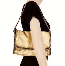 STELLA McCARTNEY Large Gold Metallic Snakeskin Chain Clutch Shoulder Bag BNWT