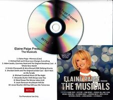 ELAINE PAIGE Presents The Musicals: Sampler 2016 UK 10-track promo only CD