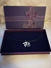 Tibetan Silver Eye of Horus Necklace & Gift Box NEW