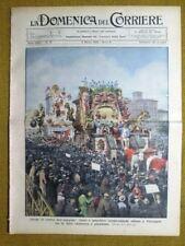 La Domenica del Corriere 5 marzo 1933 Viareggio - Imperia - Savoia in Egitto