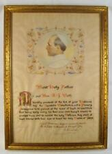 Pope Pius XII Vintage Framed Apostolic Benediction & Plenary Indulgence 1952 (O)
