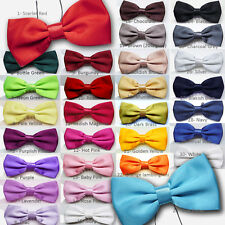 New Satin Kids Children and Boys Bow ties - Elasticated and Pre Tied