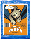 Grizzly Tarps - Large Multi-Purpose, Waterproof, Heavy Duty Poly Tarp Cover new