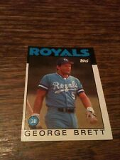 1986 Topps George Brett #300 Baseball Card Great Condition Royals HOF LEGEND WOW