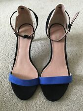 NEXT Open Toe Faux Suede Ankle Stap Sandals Size 6