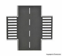 Vollmer H0 48261 Straßenplatte Asphalt, X-Kreuzung, L 15 x B 15 cm Neu