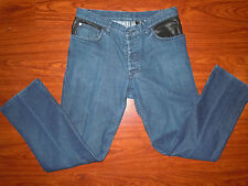 Roberto Cavalli Designer H&M Womens Blue Jean Pants Button Fly Size S Small 8/30