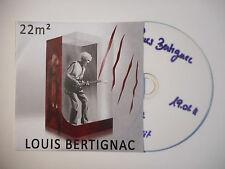 LOUIS BERTIGNAC : 22 M2 ♦ CD SINGLE PORT GRATUIT ♦