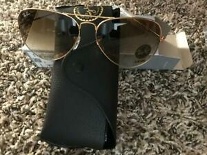 Ray Ban Aviator originals Sunglasses62mm goldFrame classic brown Gradient LENSES