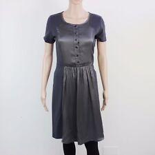 Sportsmax Code Womens Size S Grey Charcoal Maxi Dress