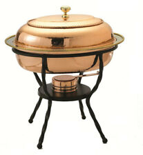 Chafing Dish Stainless Steel Oval Decor Copper Oven and Dishwasher Safe