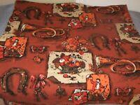 Fabric Vintage Mid Century Fabric Sample Thanksgiving/Hunt Scene #21FAB