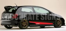 HONDA CIVIC EP3 TYPE R GRAPHICS SET STICKERS STRIPES CAR DECALS  ALL COLOURS