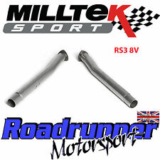 Milltek Audi RS3 8v Decats Secondary Cat Bypass De-cat Pipes - Fits OEM Exhaust