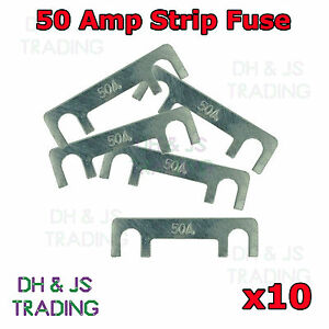 10 x 50A Amp Strip Fuse Link Midi Diesel Glow Plug Relay Classic Car Truck TVR