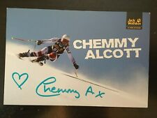 CHEMMY ALCOTT - BRITISH ALPINE SKI RACER - EXCELLENT SIGNED PROMO PHOTO