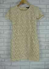 FRENCH CONNECTION Sz 12 Cream Lace Dress Floral Print