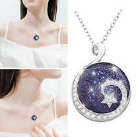 Moon Starry Sky Pendants Necklace Women Fashion Jewelry