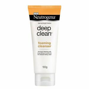 Neutrogena Deep Clean Foaming Cleanser For Normal To Oily Skin, 100g ( 2 pack )