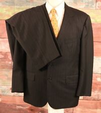 Brooks Brothers Golden Fleece Loro Piana Striped Suit Size 42 SHORT Pant 37 x 28