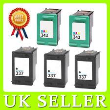 5 ink Cartridges for HP 337 343 Photosmart C4180 C4183 C4188 C4480 C4580 2570