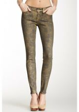 7 For All Mankind The Skinny in Laser Gold Foil Jeans Size 28 Sold Out A853