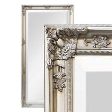 XXL Wandspiegel Spiegel silber 200 x 100 cm Antik-Stil barock m. Facettenschliff