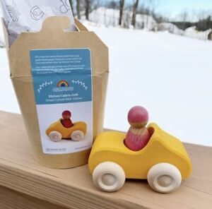 New Grimm's Small Yellow Convertible Wooden Toy