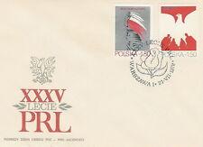 Poland FDC (Mi. 2640-41) 35 years people's republic #1