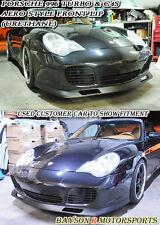 Aero Style Front Lip (Urethane) Fits Porsche 996 911 Turbo Carrera 4S