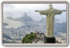 FRIDGE MAGNET - CHRIST THE REDEEMER - Large Jumbo - Rio De Janeiro Brazil City