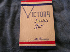 Vintage Victory Fountain Grill Menu