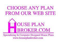Custom set of house plans blueprints bathroom 3 car garage bedroom square feet