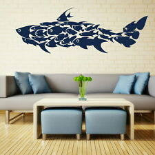 Shark Made Of Fish Wall Art Sticker Large Vinyl Transfer Graphic Decal Home Fi9