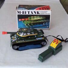 Vintage Masudaya ( Boxed  ) RC Tinplate M-81 Tank       ModernToys