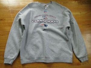 2001 SUPER BOWL XXXVI NEW ENGLAND PATRIOTS Champions 2XL Sweatshirt Tom Brady