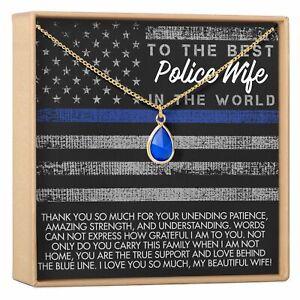 Police Wife Gemstone Necklace