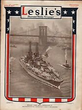 Leslie's Illustrated Weekly Newspaper/Magazine March 8, 1917 News/Photos/Ads