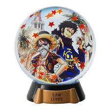 One Piece Mini Glitter Snow Globe Luffy Trafalgar Law Snowglobe Dome Pose figure