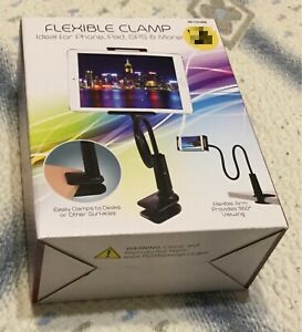 New! Flexible Arm Clamp Cell Phone Pad GPS Adjustable Mount Holder Black