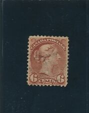 Canada QUEEN VICTORIA #43a; 1890 6c CHOCOLATE; VF - XF; NO FAULTS **NICE STAMP**