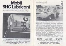 Lamborghini Range Countach Espada Silhouette Urraco 1977 Original UK Brochure