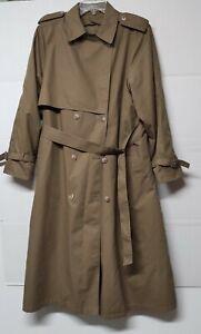 London Fog Trench Coat Women's Green Olive  Thisulate Shell Size 12Reg