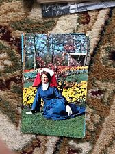 T2-1 postcard unused old holland bulb time with local girl