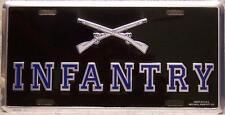 Aluminum Military License Plate Army Infantry Emblem NEW