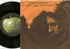 GEORGE HARRISON MY SWEET LORD & IS`NT IT A PITY DANISH 45+PS 1970 THE BEATLES
