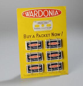 Vintage Wardonia Razor Blades Shop Display Stand Advertising Display